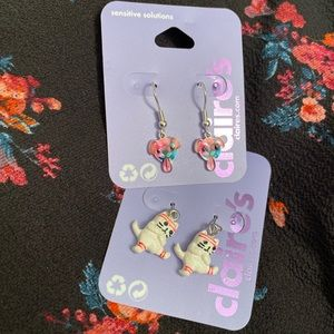 Claire's earrings cats and dogs